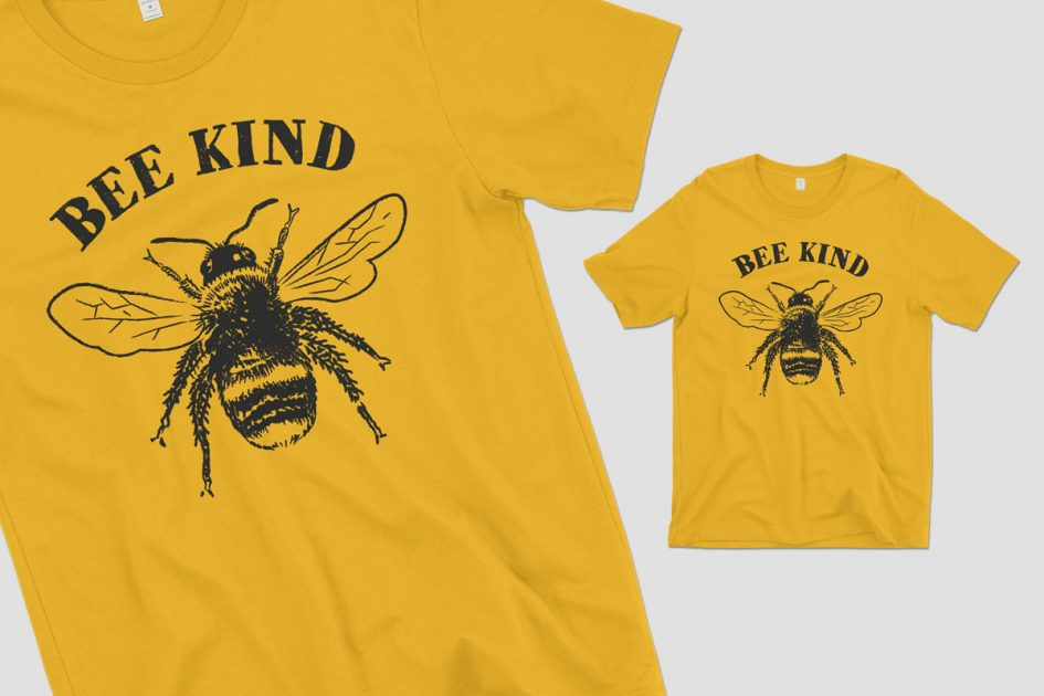 bee-kind-gold-shirt-detail
