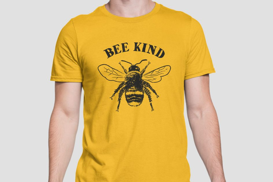 bee-kind-gold-shirt-model