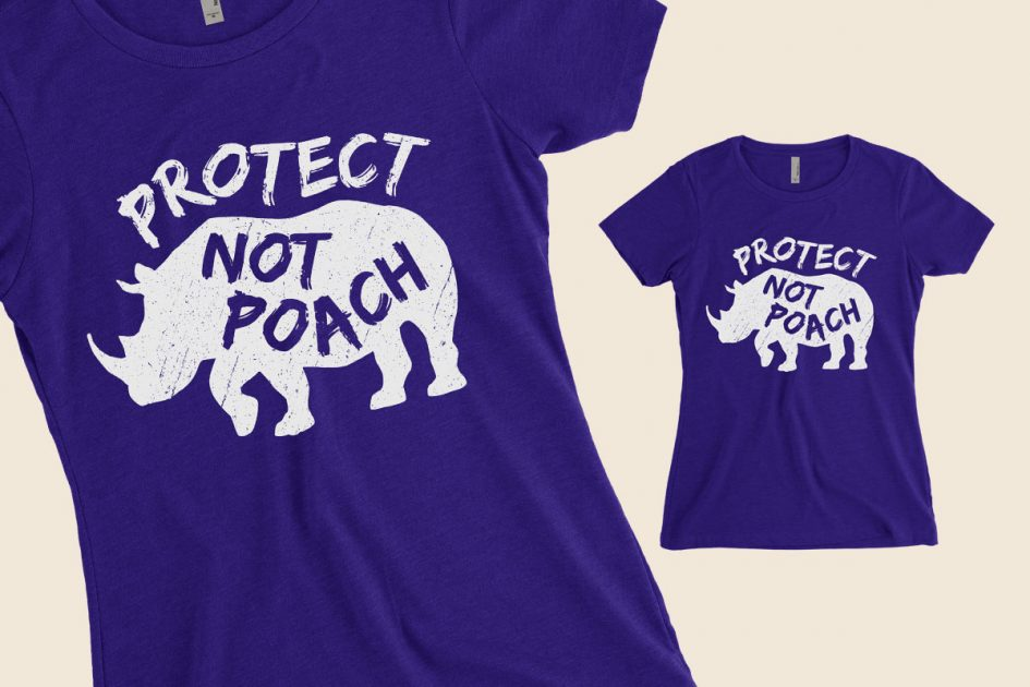 protect-not-poach-rhino-purple-shirt-detail
