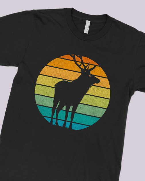wild-elk-stag-retro-pattern-black-shirt-feature