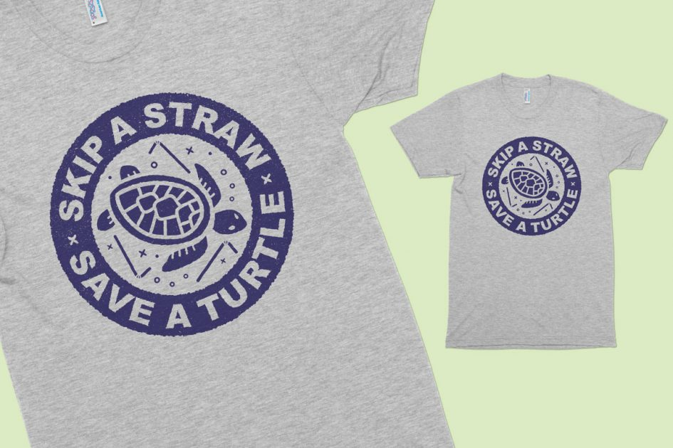 skip-straw-save-turtle-grey-shirt-detail