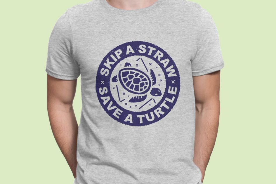 skip-straw-save-turtle-grey-shirt-model