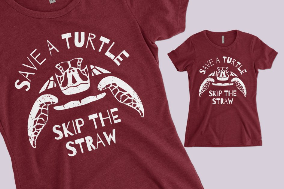 save-turtle-skip-straw-red-shirt-detail