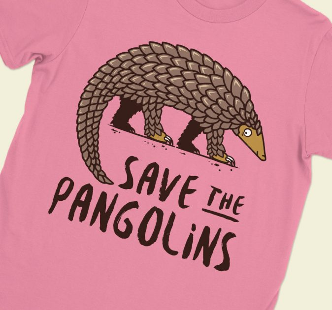 save-pangolins-walking-pink-shirt-feature