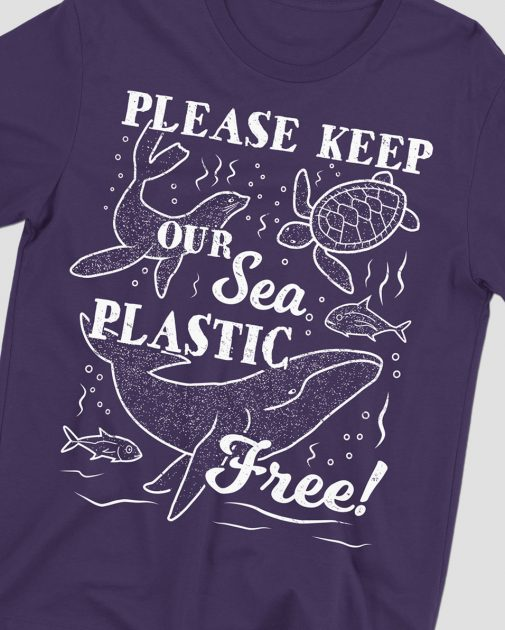 keep sea plastic free marine purple shirt feature